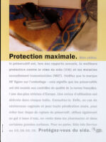 Protection maximale [inscribed]