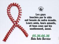 Gays touchés par le sida ont besoin de notre écoute [inscribed]