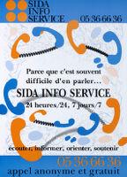Parce que c'est souvent difficile d'en parler … Sida Info Service, 24 heures, 7 jours [inscribed]