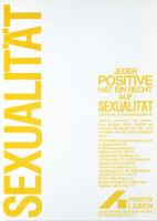 Sexualität. Jeder Positive hat ein Recht auf Sexualität