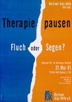 Berliner Aids-Hilfe lädet ein, Therapie Pausen, Fluch oder Segen?