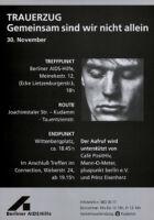 Trauerzug Gemeinsam sind wir nicht allein, 30. November