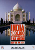 India 4.100.000 mensen met HIV/AIDS [inscribed]