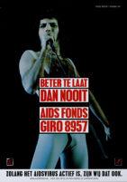 Beter Te Laat Dan Nooit. AIDS Fonds Giro 8957 [inscribed]