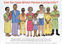 Can you spot which person carries HIV? The answer is no!