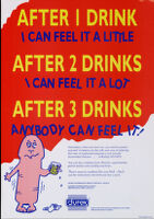 After 1 drink, I can feel it a little. After 2 drinks, I can feel it a lot. After 3 drinks anybody can feel it [inscribed]