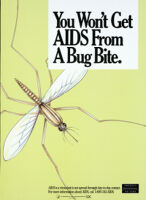 You won't get AIDS from a bug bite [inscribed]