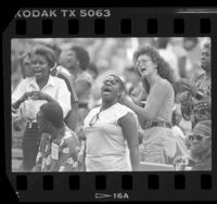 Crowd at Mahalia Jackson Gospel Music Festival in Los Angeles, Calif., 1986