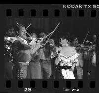 Linda Ronstadt performing at International Festival of Mariachis, Calif., 1986