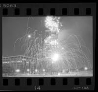 Fireworks during Street Scene festival in Los Angeles, Calif., 1986