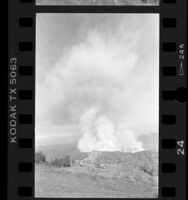 Experimental fire in Lodi Canyon, Calif., 1986
