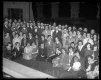 Group photograph of the congregation members who split from Aimee McPherson's Angelus Temple