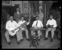 Los Angeles Times Aloha String Quartet performing for radio in 1927