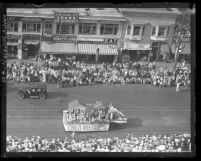 Child welfare float in American Legion Parade, Long Beach, Calif., 1931