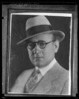 Copy of a photograph of Charles G. Anthony, portrait, 1931