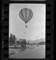 Stuntman diver Jumpin' Joe Gerlach, filming diving stunt in Burbank, Calif., 1971