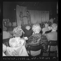 """Senior Citizen Night"" at Classic Cat burlesque club in Los Angeles, Calif., 1972"