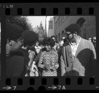 Shirley Chisholm meeting students at University of Southern California, 1972