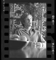 Actor Richard Chamberlain, seated half length portrait, 1972