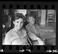 Feminist comedians, Pat Harrison and Robinson Tyler, 1972