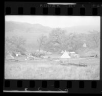 Tent camp of American Indians in Ventura County park, Calif., 1972