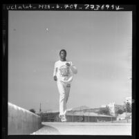 Olympic athlete and USC student Randy Williams in Los Angeles, Calif., 1973