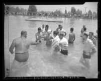 Jehovah's Witnesses Baptism in the Burbank River in Los Angeles, Calif., 1947