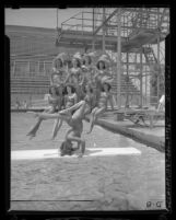 Group portrait of Aqua Show performers in Los Angeles, Calif., circa 1947