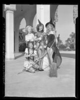 Four contestants of the Halloween Slick Chick beauty contest in Anaheim, Calif., 1947
