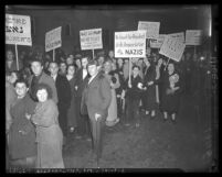 Demonstration sponsored by United Anti-Nazi Conference against Nazi Germany, Los Angeles, Calif., 1938