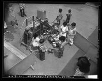 Children on playground at Aliso Village Nursery School in Los Angeles, Calif., 1948