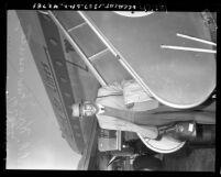 Jiddu Krishnamurti, Theosophist, at airport in Los Angeles, Calif., circa 1948