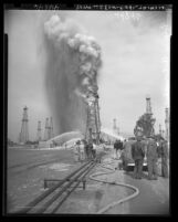 Union Oil Company well fire at Santa Fe Springs, Calif., 1949