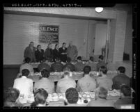 Passover service at Los Angeles County Jail, 1949