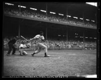 Luscious Luke Easter at bat during Los Angeles Angels vs San Diego Padres, 1949