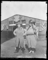 Two country clowns at the Ventura County Fair, Calif. circa 1924