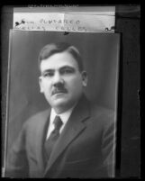 Copy of a portrait of Plutarco Elias Calles, president of Mexico, circa 1920