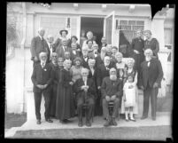 Group portrait of Centenarian Club members circa 1923