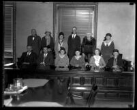 Group portrait of jury for David H. Clark's second murder trial, 1931