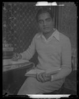 Prince Piare Amarjit S. Dail in western clothing studying at USC, 1930