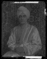 Prince Piare Amarjit S. Dail in traditional Indian dress at USC, 1930