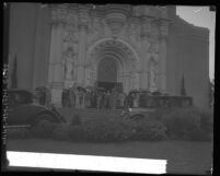 Lower half of the façade of St. Vincent's de Paul Church, Los Angeles, 1929
