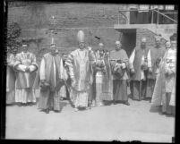 Catholic Bishop Thomas K. Gorman with other clergy members