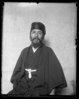 Portrait of Jitsuma Hiramatsu in 1929, Japanese minister during visit to Los Angeles, Calif.