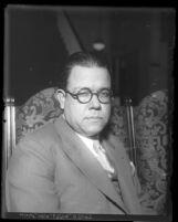 Portrait of Eusebio Izquierdo, visiting Mexican official in 1930, Los Angeles, Calif.