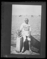 Catalina character and life-saver Captain Jack Williams on Catalina Island, Calif., 1924