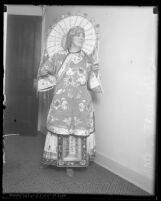 Charles Jeffras' wife, Mary Gray Jeffras dressed in Chinese dress, Los Angeles, Calif., circa 1920