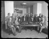 Group portrait of Los Angeles County Grand Jury members, circa 1926