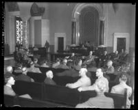 Inside the chamber at meeting of Los Angeles City Councilmen, circa 1928
