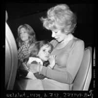 Comedienne Joan Rivers and daughter Melissa at fashion show in Los Angeles, Calif., 1973